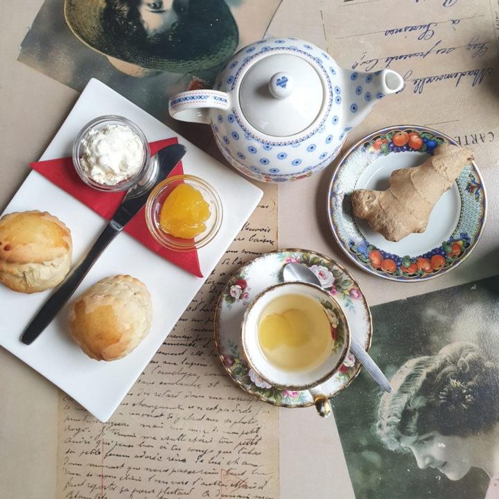 Scones bij een theehuis in Enschede
