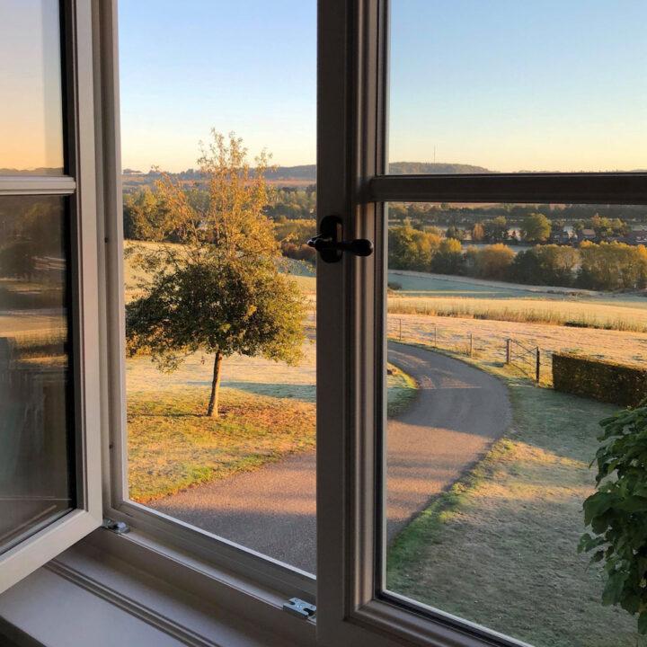 Uitzicht over de heuvels in Zuid-Limburg
