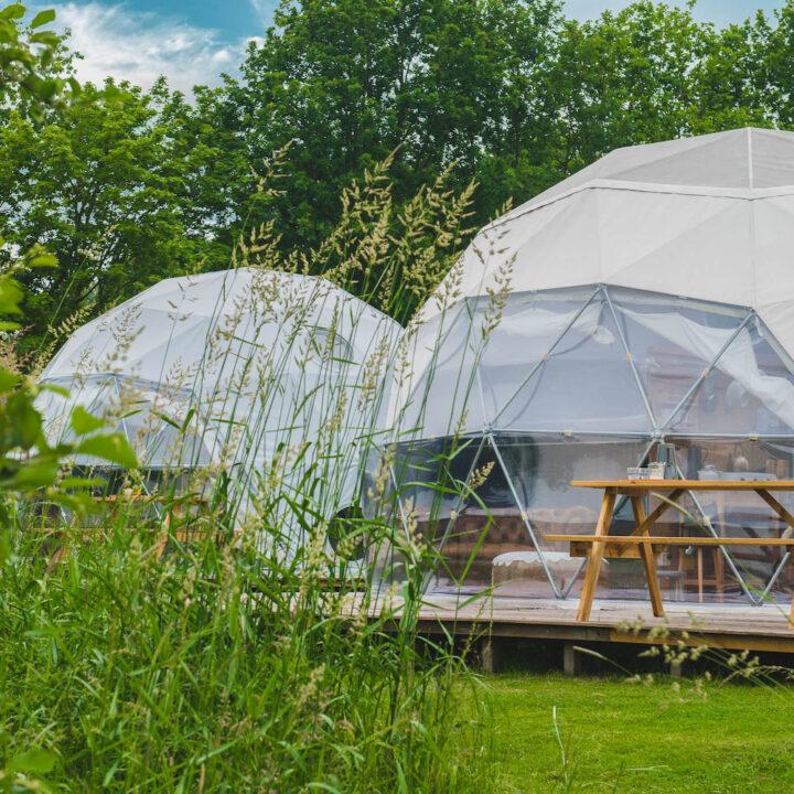 Deze unieke dome biedt plaats aan vier personen.