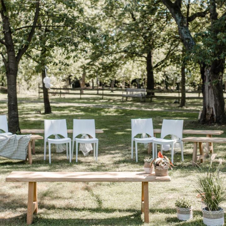 Zitjes in de tuin, als trouwlocatie