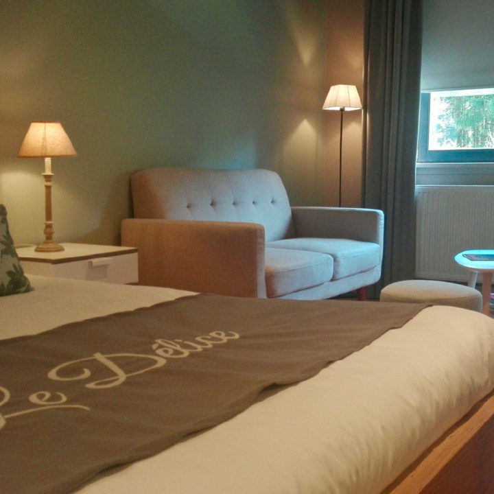 Slaapkamer met zithoek in de bed and breakfast