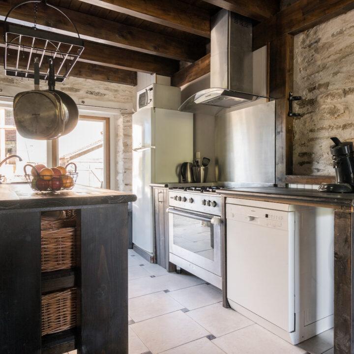 Keuken in het Franse vakantiehuis van La Bastide