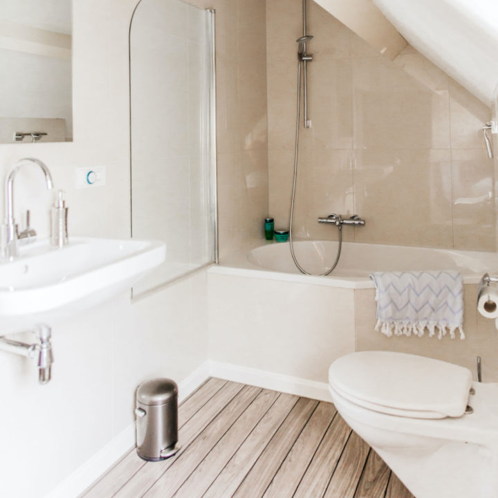 Badkamer in een vakantiehuis