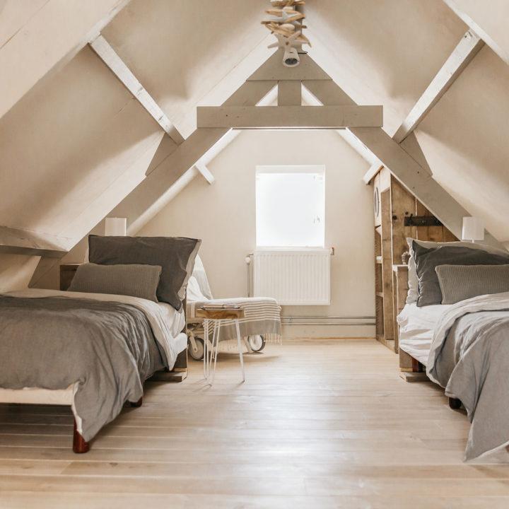 Slaapzolder van een vakantiehuis