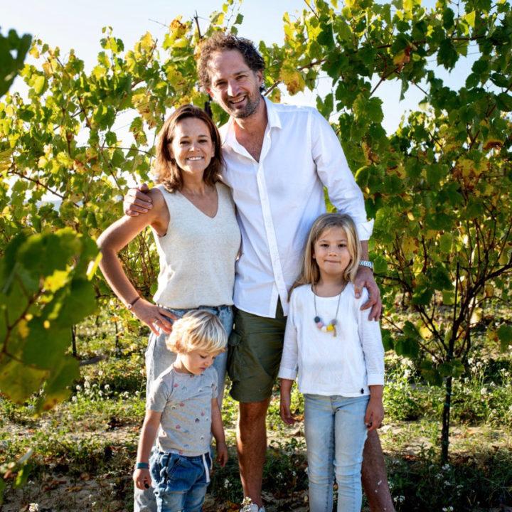 Gastgezin in een wijngaard
