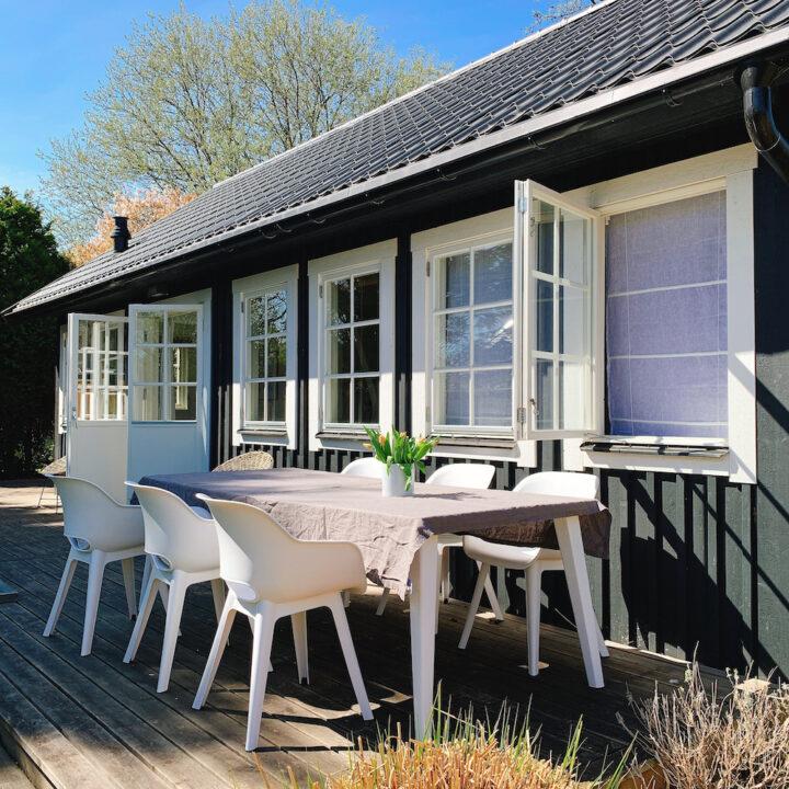 Terras van het vakantiehuisje in Noordwijk aan Zee