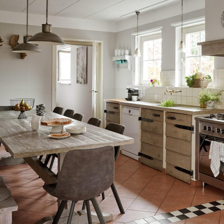Compleet uitgeruste keukens in alle vakantiewoningen.