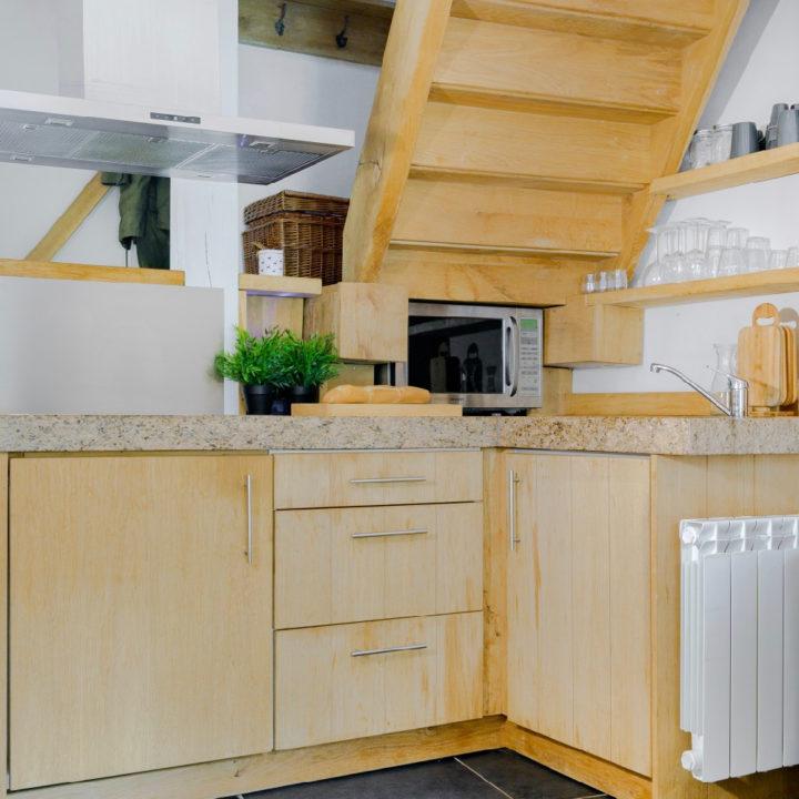 Keuken in vakantiehuis in de Auvergne