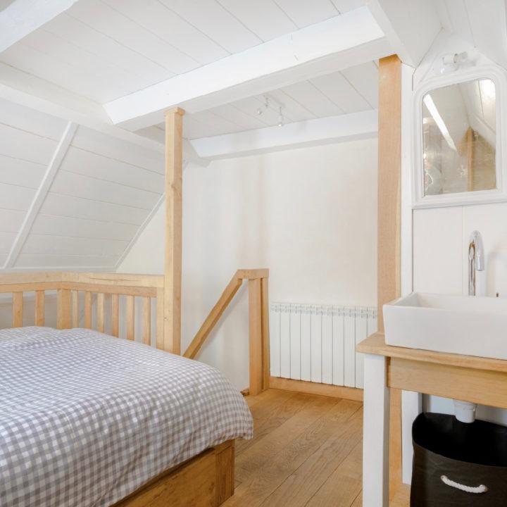 Slaapkamer in een vakantiehuis in de Auvergne