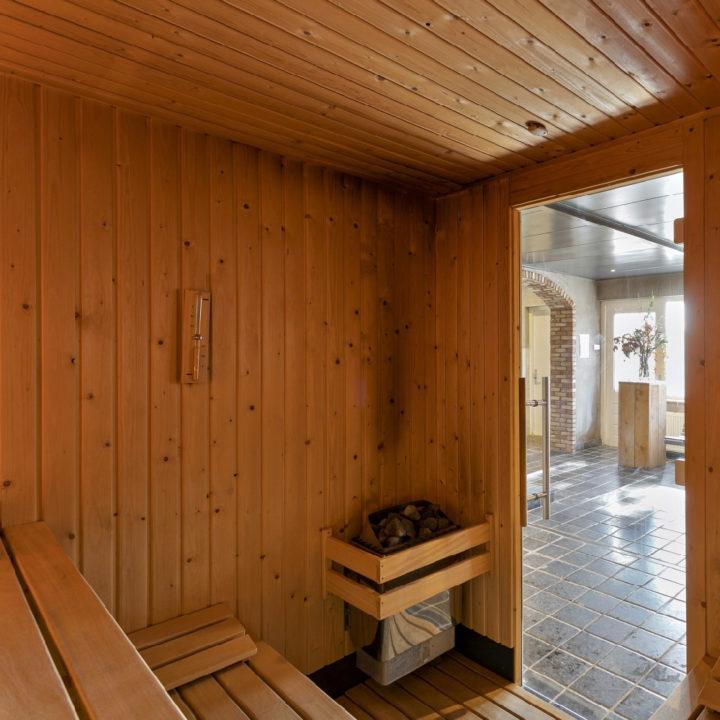 Sauna in een kleinschalige wellness