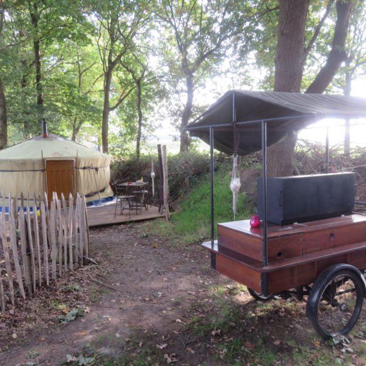Yurt in het bos voor een weekendje weg in alle rust