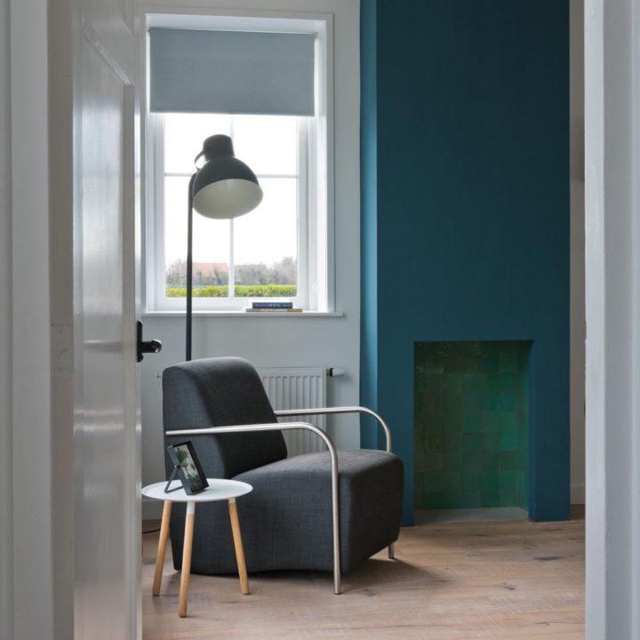 Leeshoek in de woonkamer van het vakantiehuis in Domburg