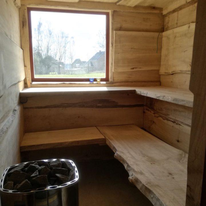 Privé sauna bij het vakantiehuis