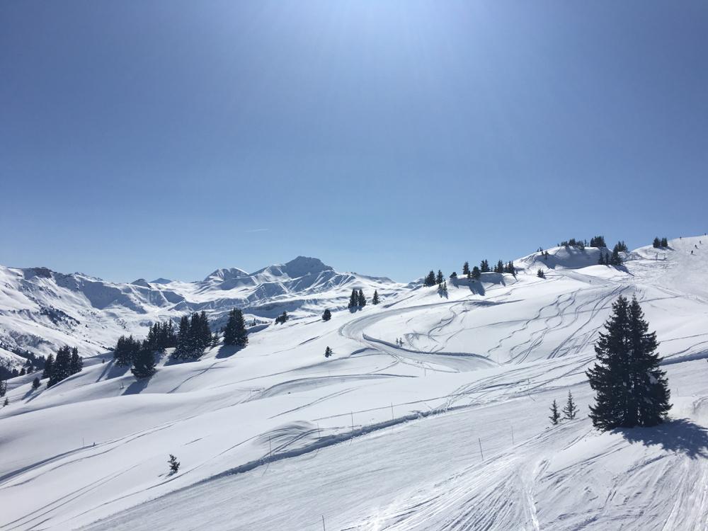 Het hooggelegen skigebied van Beaufort