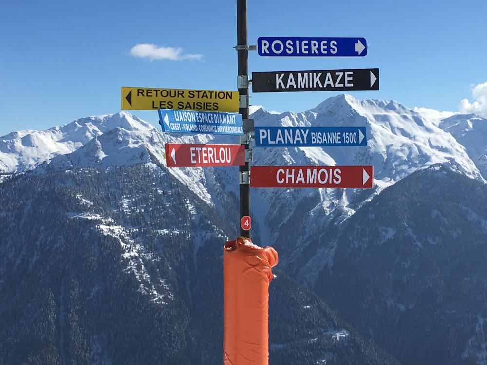 Magnifiek skiën met zicht op de Mont Blanc