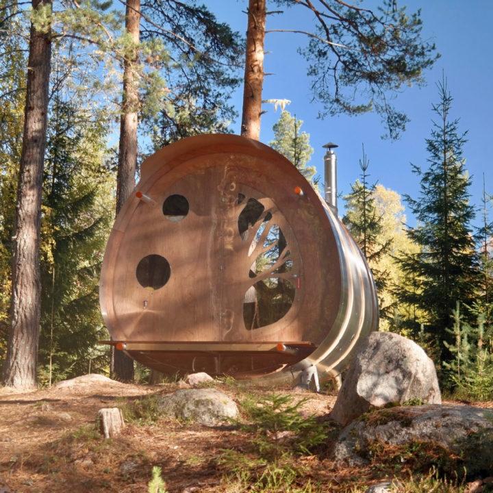 Boomhut in de bossen