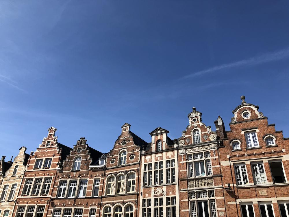Een rij historische gevels in Leuven