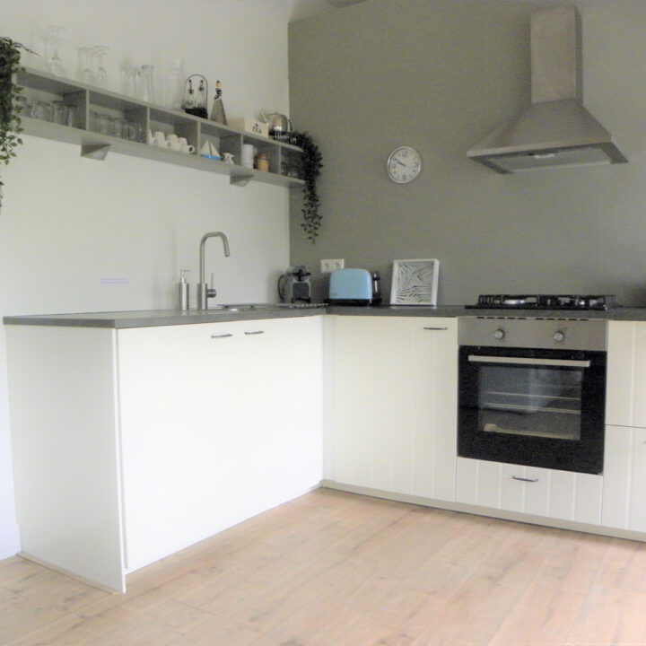 Keuken van het vakantiehuis in Woubrugge
