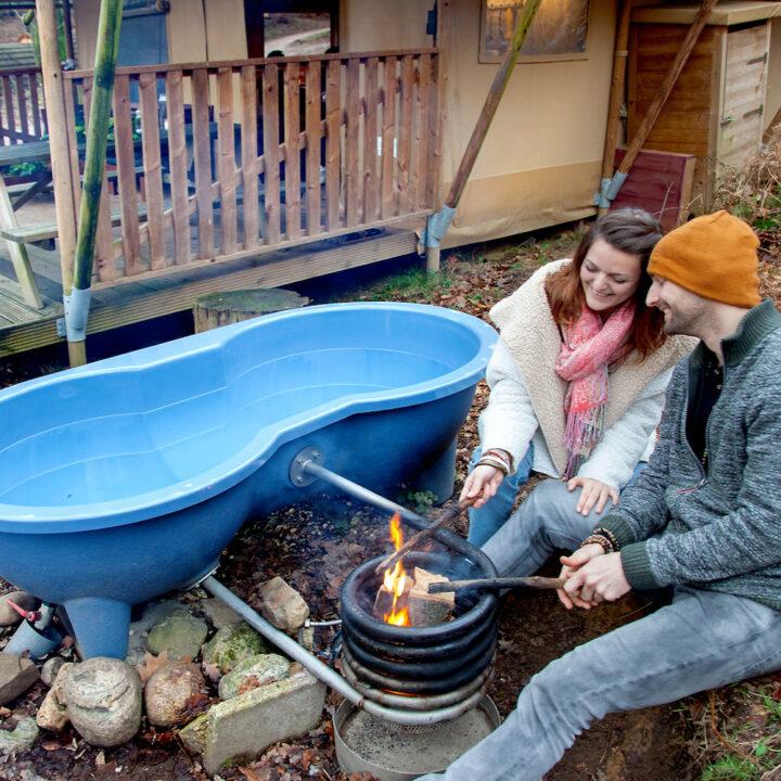 Blauwe hot tub voor twee personen