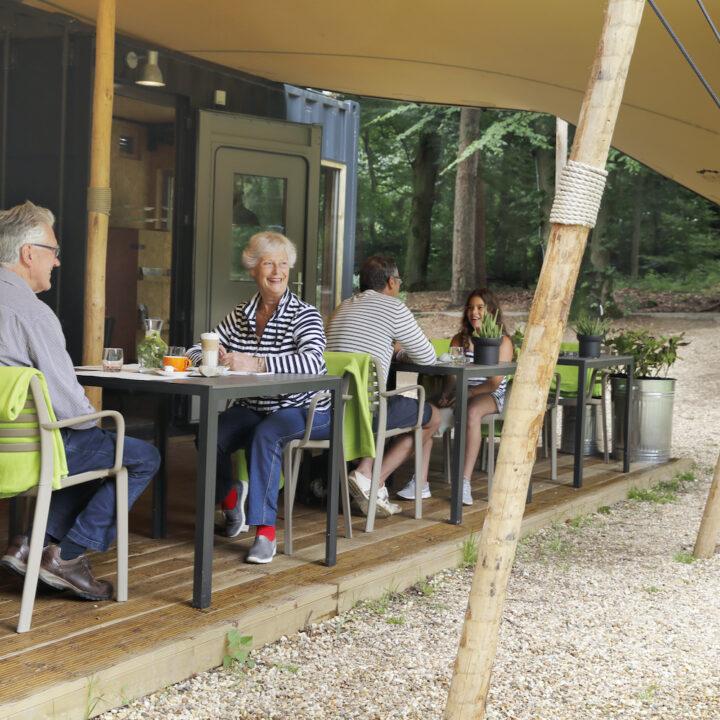 Restaurant in het bos