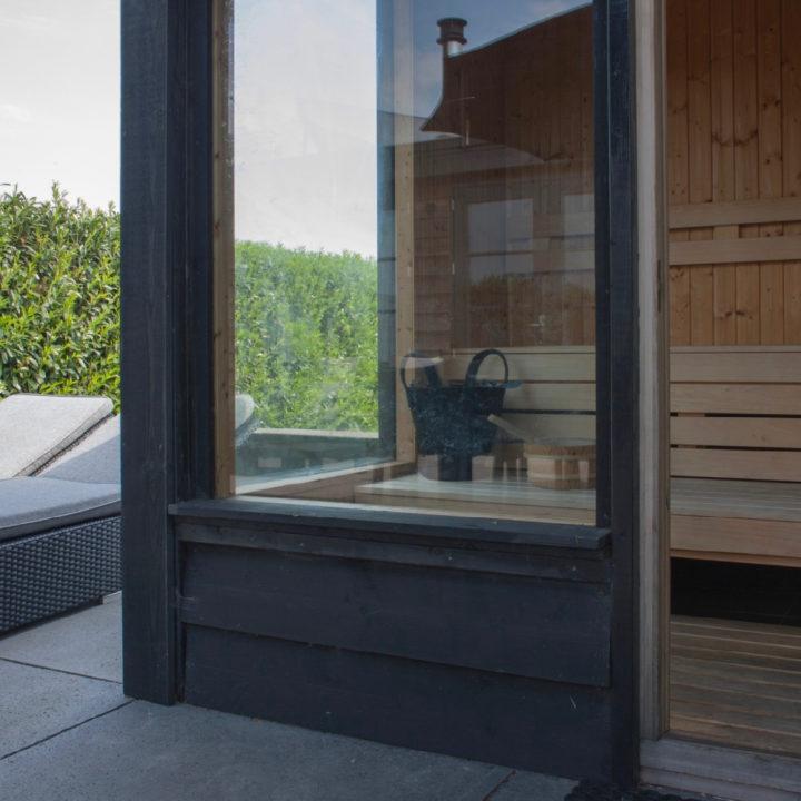Sauna in de tuin