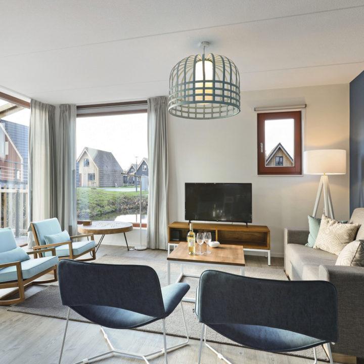 Ruime woonkamer in vakantiehuis van Landal