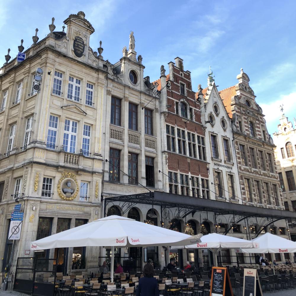 Het historische centrum van Leuven met tal van terrasjes