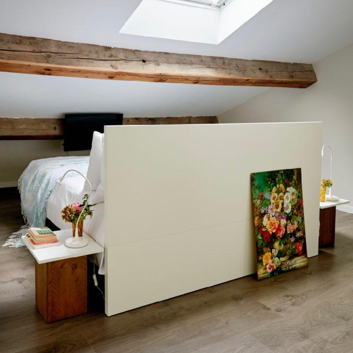 Slaapkamer in het 12-persoons vakantiehuis