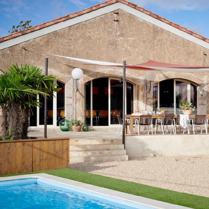 De Loft van Des Agnelles, een 12-persoons vakantiehuis met zwembad