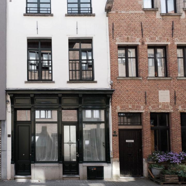 De gevel van groepsaccommodatie Zalig in Antwerpen