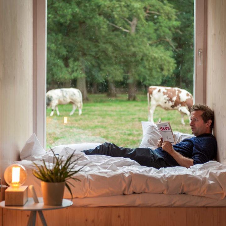 Languit op bed met een goed boek. Dat is pas ontspannen.