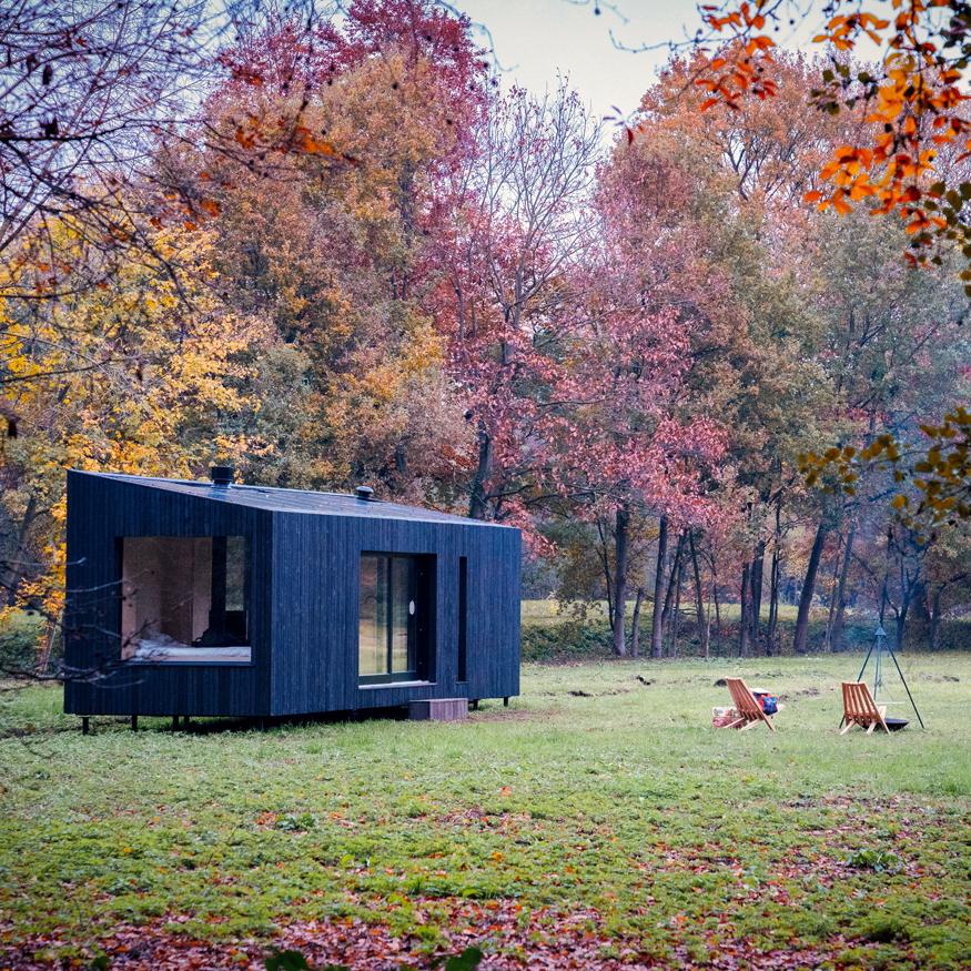Slow Cabins op een unieke locatie in de natuur