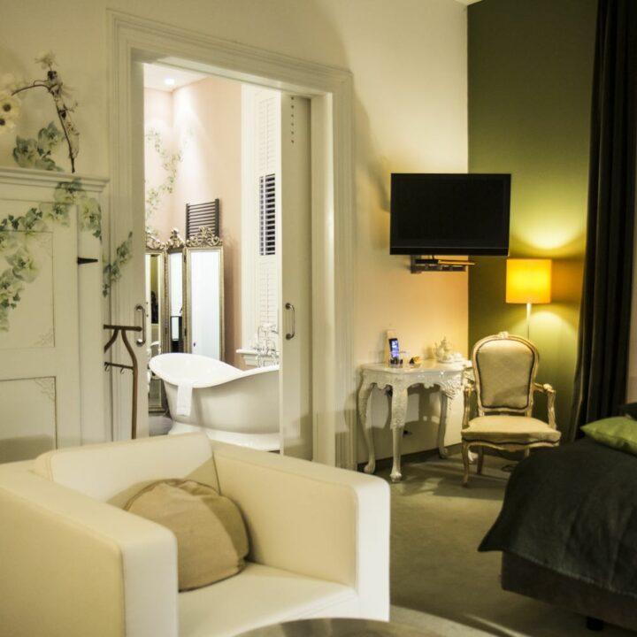 Suite Hotel Pincoffs Romantische Suite badkamer