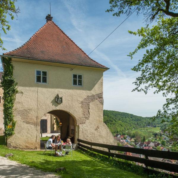 Toren van een kasteel in Beieren