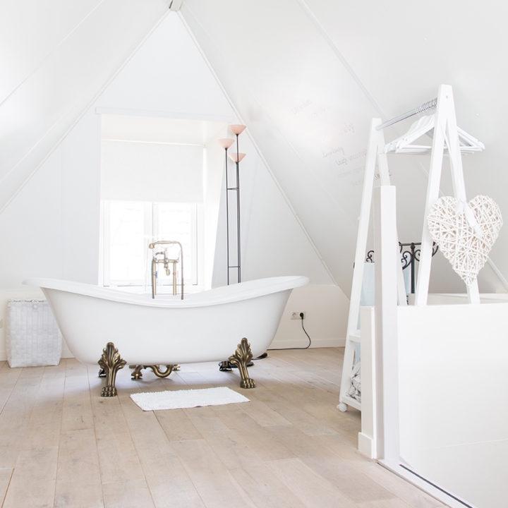 Een romantisch bad op pootjes.