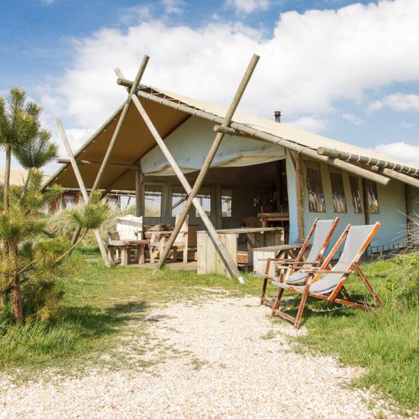 De lodges van Duynpark Het Zwanenwater liggen op loopafstand van het strand van Callantsoog.