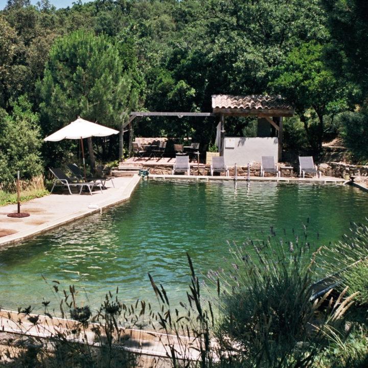 Serre Long heeft een heerlijk groot zwembad van 8 bij 20 meter.