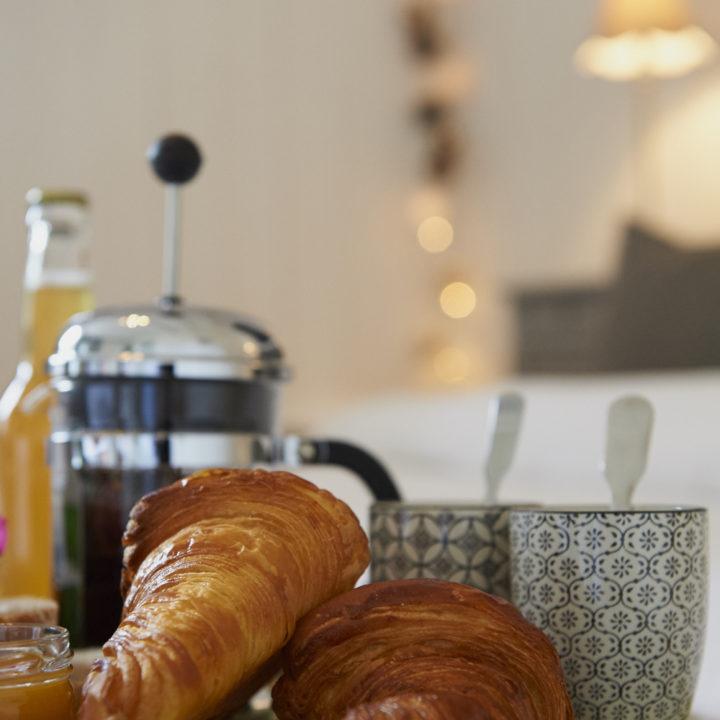 Bestel een ontbijt en het wordt aan huis bezorgd.
