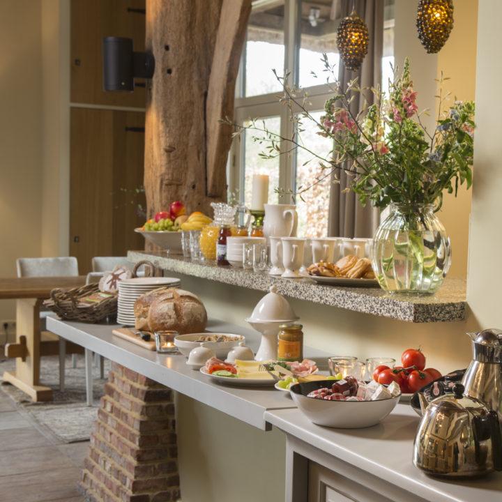 Ontbijt buffet in het vakantiehuis