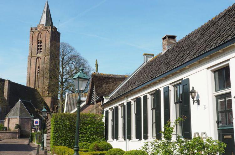 Historische centrum met kerk in Soest