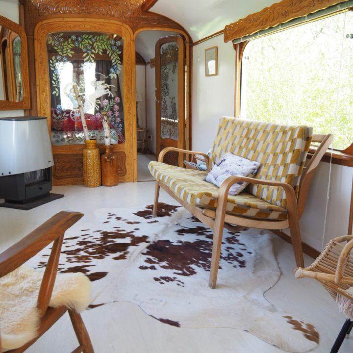 Vintage interieur in de woonwagen