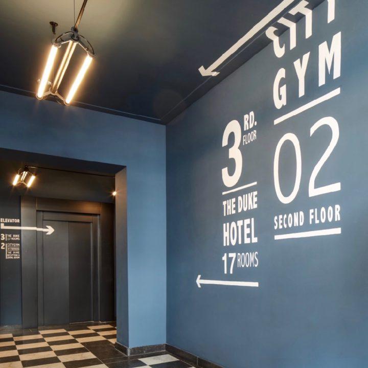 Aanduiding kamers in het boutique hotel in Den Bosch