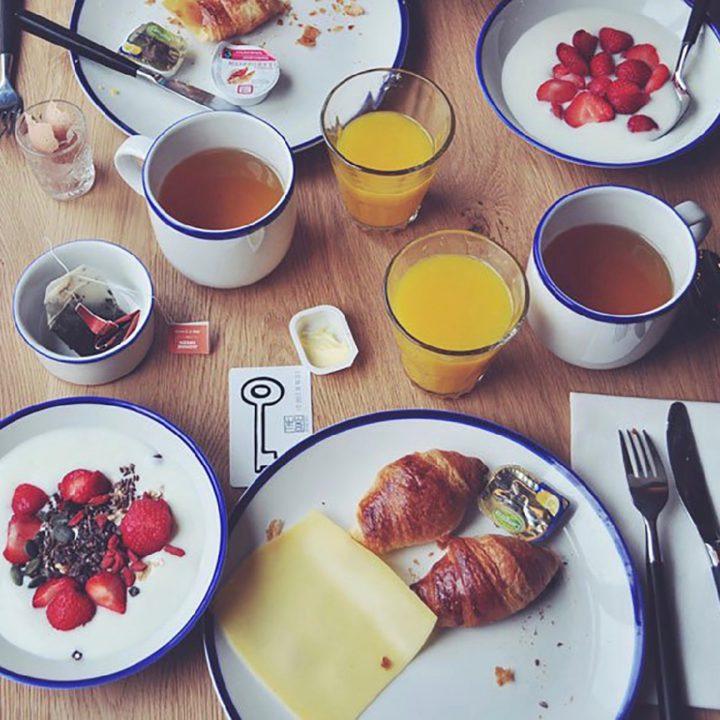 Ontbijt bij het boutique hotel