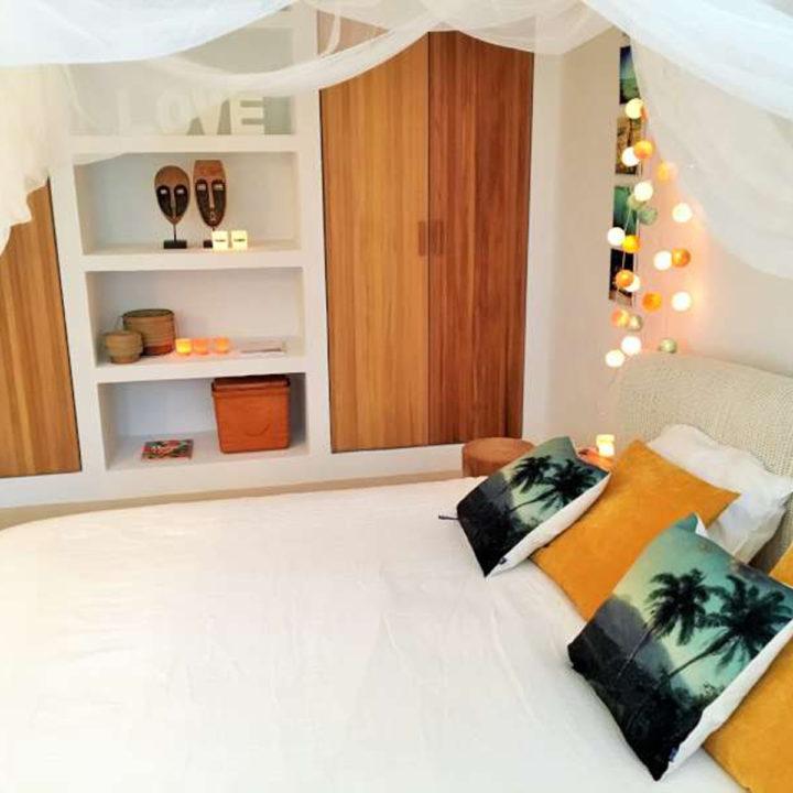 Slaapkamer van vakantiehuis op Ibiza