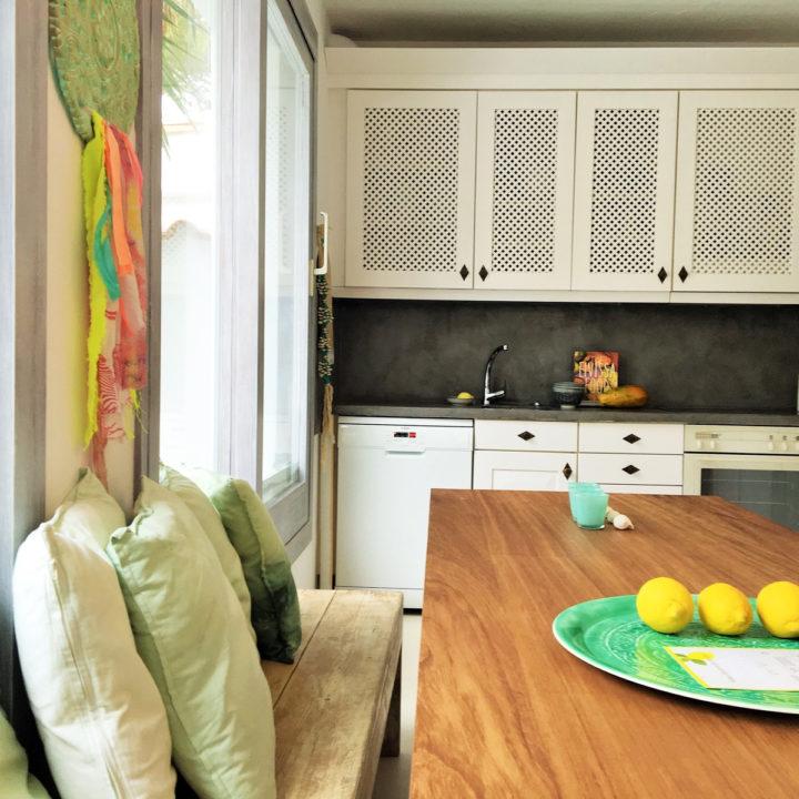 Keuken van het vakantiehuis op Ibiza