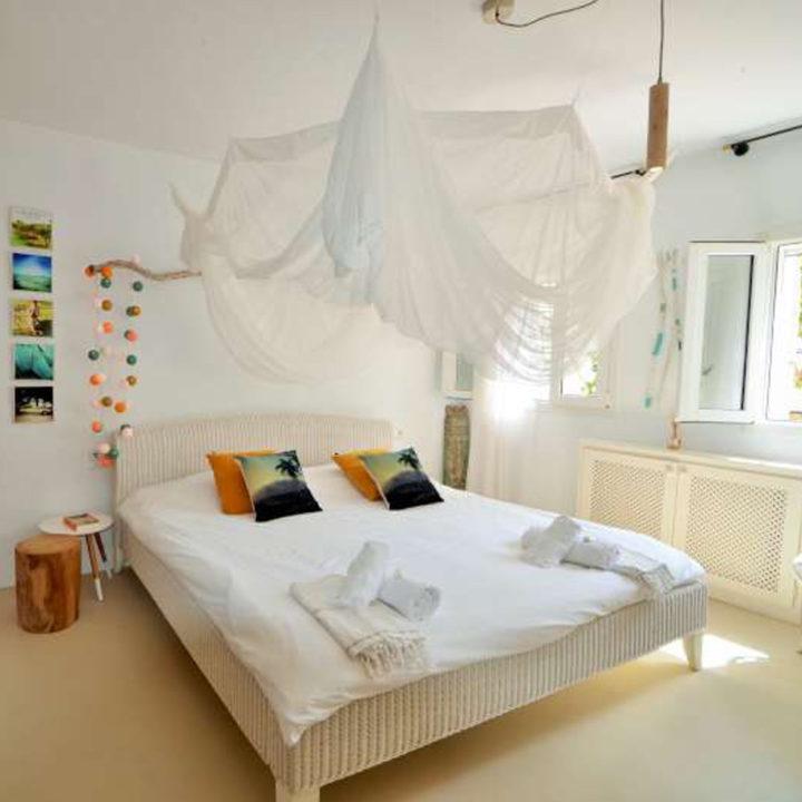 Slaapkamer vakantiehuis op Ibiza