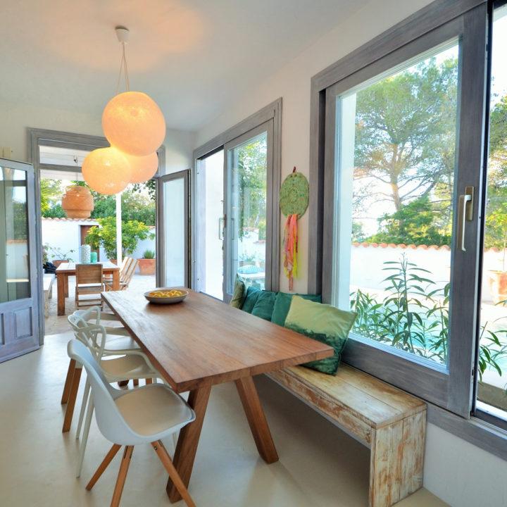 Eethoek vakantiehuis op Ibiza