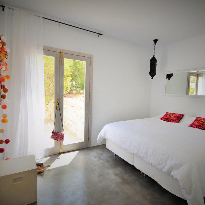 Lichte slaapkamer vakantiehuis op Ibiza