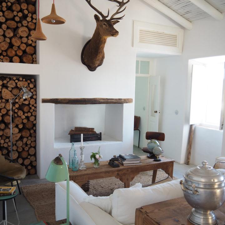 De woonkamer voor de gasten