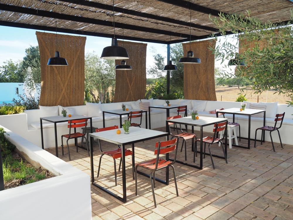 Het terras, restaurant van het boutique hotel
